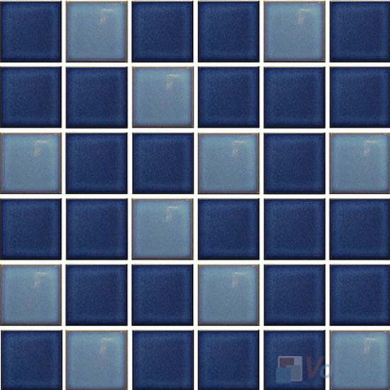 Blue Mixed 2x2 Glazed Ceramic Mosaic VC-GZ94