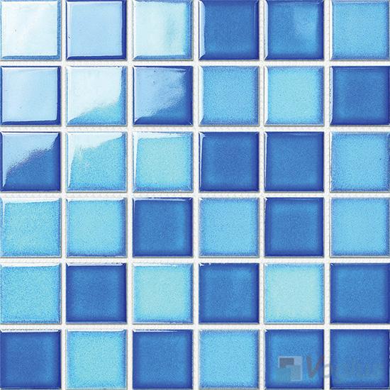 Blue Mixed 48x48mm 2x2 inch Swimming Pool Ceramic Mosaic Tiles VC-SP86