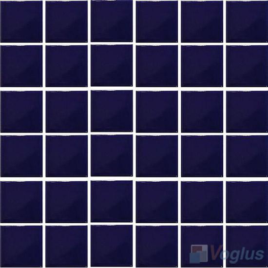 Dark Blue 48x48mm 2x2 inch Plain Pool Ceramic Mosaic VC-PL95