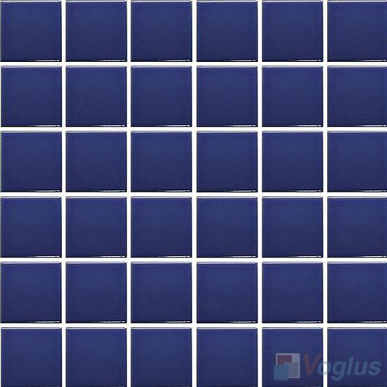 Dark Blue 48x48mm 2x2 inch Plain Pool Ceramic Mosaic VC-PL99