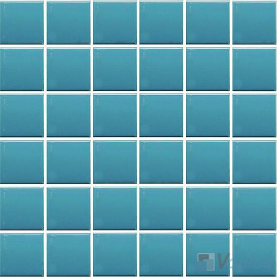 Fresh Blue 48x48mm 2x2 inch Plain Pool Ceramic Mosaic VC-PL96