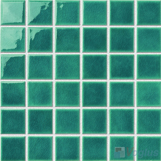 Green 48x48mm 2x2 inch Swimming Pool Ceramic Mosaic VC-SP89