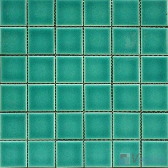 Green 48x48mm 2x2 inch Swimming Pool Mosaic Tiles VC-SP84