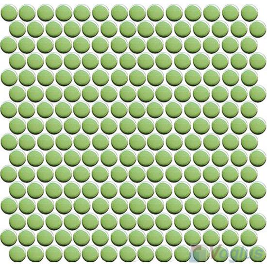 Green Circle Round Shaped Ceramic Mosaic Tile VC-US93