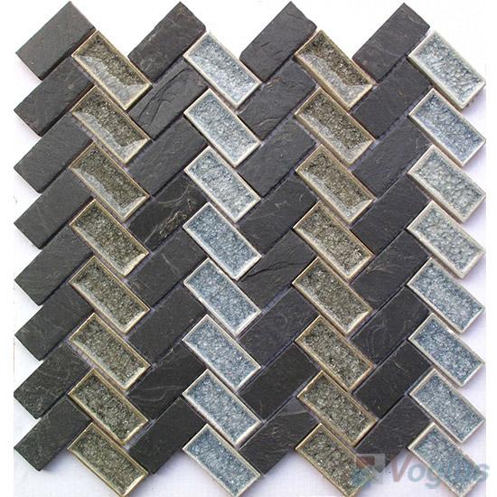 Herringbone Stone Ceramic Mosaic VB-SC95