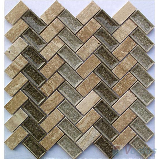 Herringbone Stone Ceramic Mosaic VB-SC96