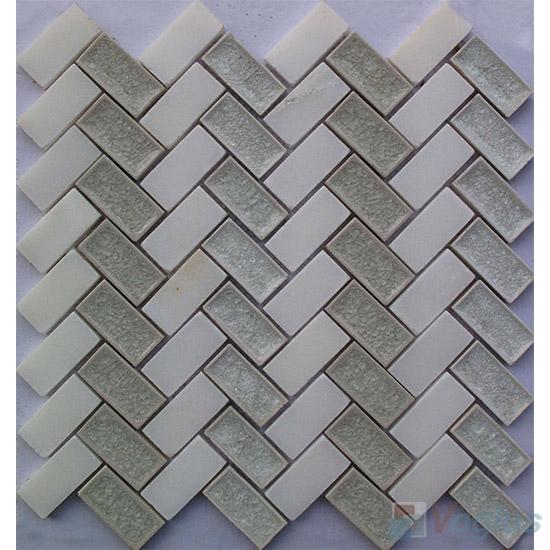 Herringbone Stone Mixed Ceramic Mosaic VB-SC90