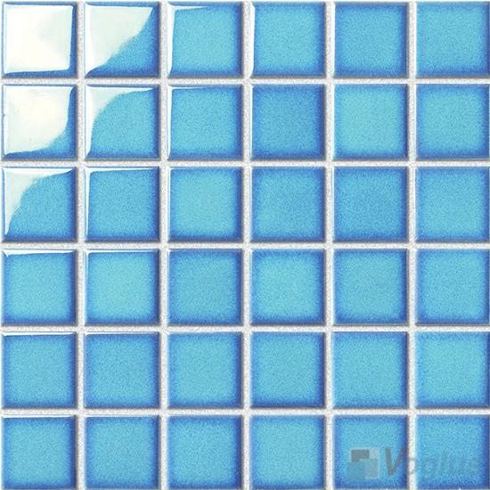 Light Blue 48x48mm 2x2 inch Swimming Pool Ceramic Mosaic VC-SP88