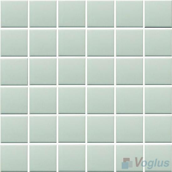 Light Lime 48x48mm 2x2 inch Plain Pool Ceramic Mosaic VC-PL97