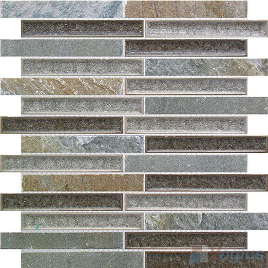 Linear Stone Mixed Ceramic Mosaic Tiles VB-SC85