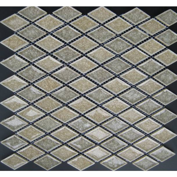 Lino Rhombus Diamond Ice Crackled Ceramic Mosaic Tiles VC-TT90