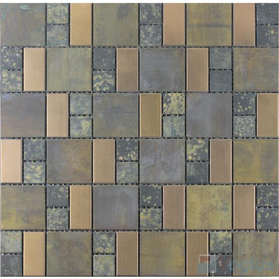 Magic Cube Antique Copper Mosaic Tile VM-CP91