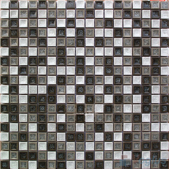 Mixed 15x15mm Ice Crackled Ceramic Mosaic VC-TT94