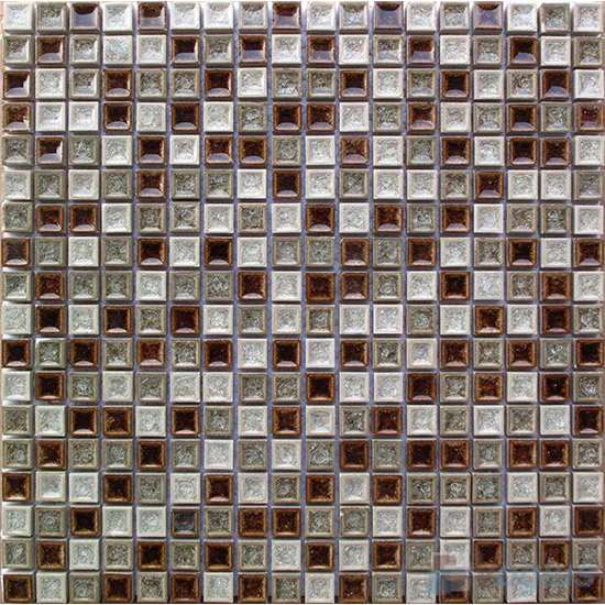 Mixed 15x15mm Ice Crackled Ceramic Mosaic VC-TT95