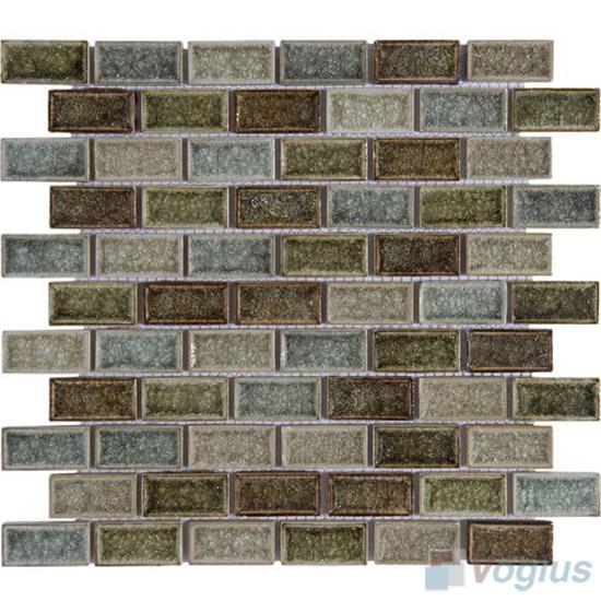 Mixed Subway Ice Crackled Ceramic Mosaic VC-TT99