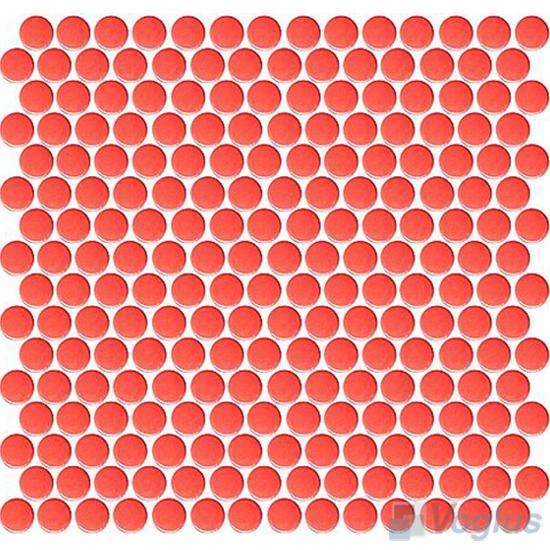 Red Circle Round Shaped Ceramic Mosaic Tile VCUS92 Voglus Mosaic
