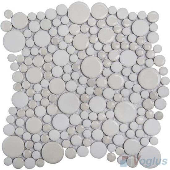 Smoky Bubble Pebble Ceramic Mosaic Tile VC-US89