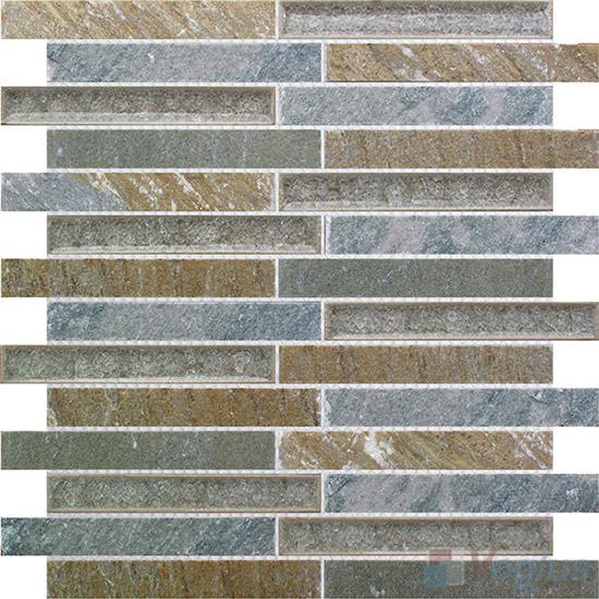 Strip Stone Mixed Ceramic Mosaic Tiles VB-SC86