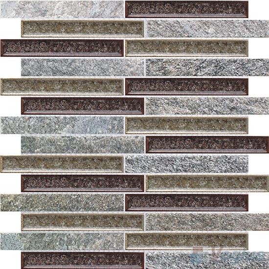 Strip Stone Mixed Ceramic Mosaic Tiles VB-SC87