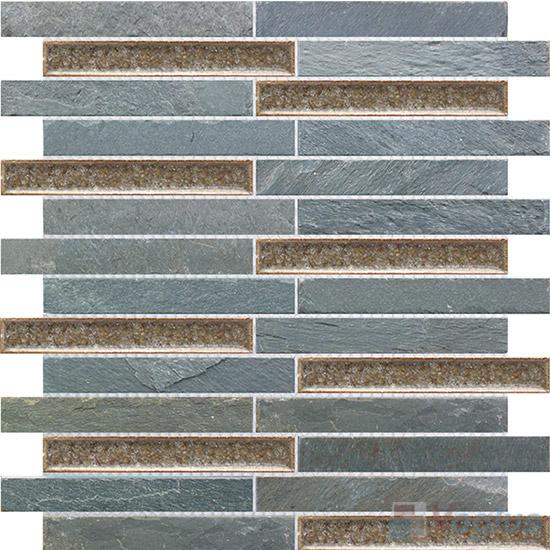 Strip Stone Mixed Ceramic Mosaic VB-SC88