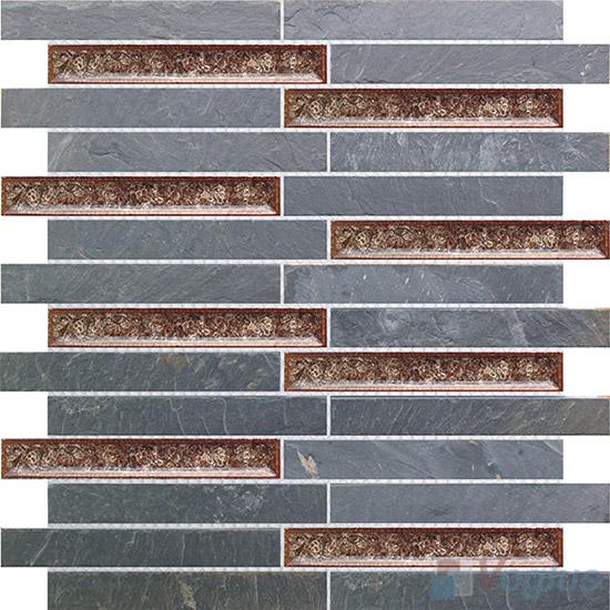 Strip Stone Mixed Ceramic Mosaic VB-SC89