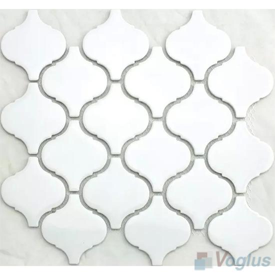 White Lantern Shape Porcelain Mosaic VC-BW92