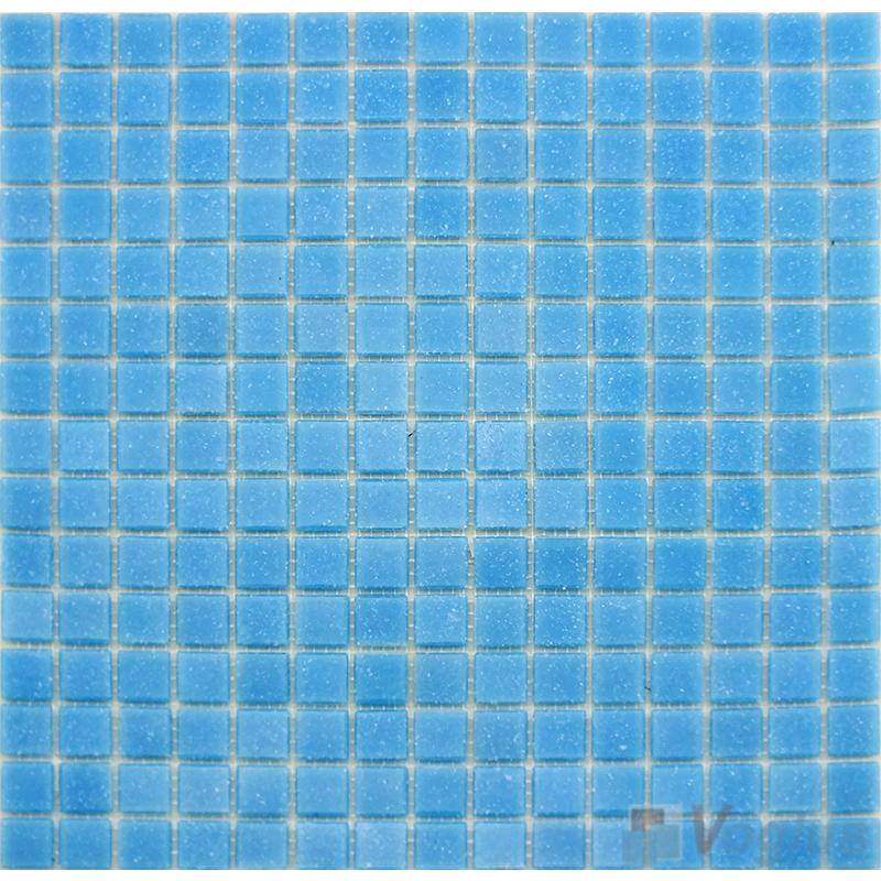 Baby Blue 20x20mm Dot Glass Mosaic VG-DTS94