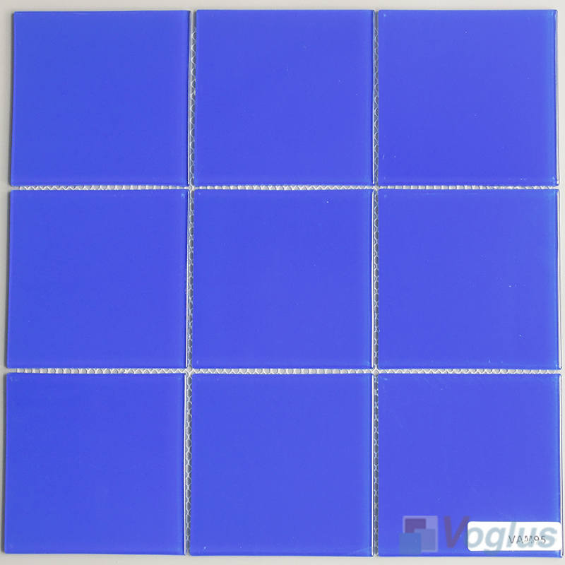 Blue 100x100mm 4x4 inch Glass Mosaic Wall Tile VG-CYN97