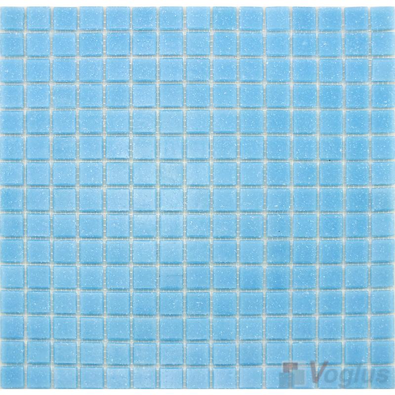 Light Blue 20x20mm Dot Glass Mosaic VG-DTS95