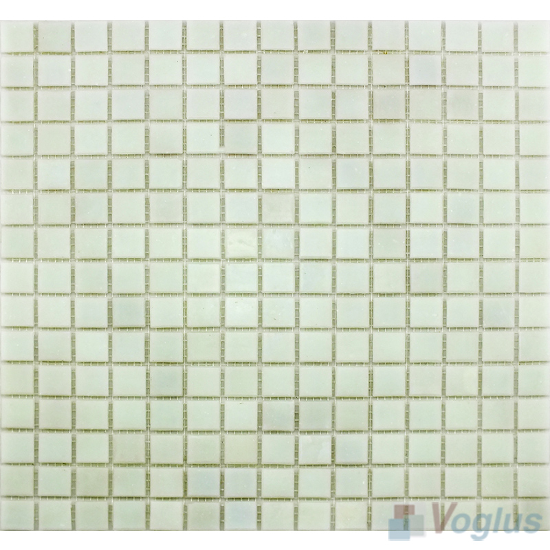 Mint Cream 20x20mm Dot Glass Mosaic VG-DTS84