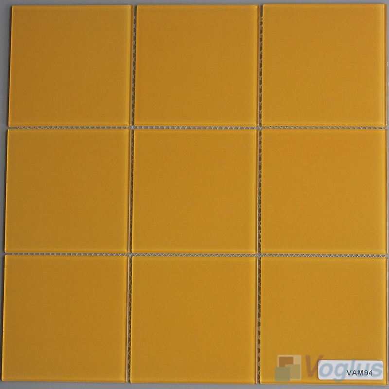 Ochre 100x100mm 4x4 inch Wall Mosaic Glass Tile VG-CYN93