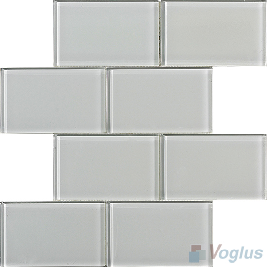 Pearl Subway 3x6 inch Brick Glass Tiles VG-CYZ94