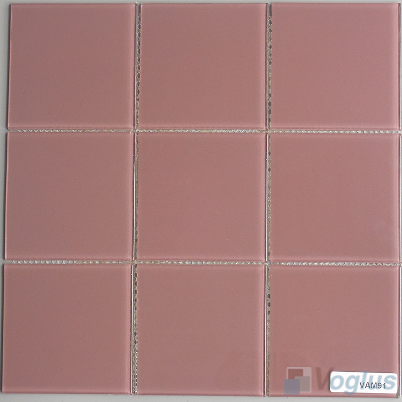Puce 100x100mm 4x4 inch Wall Mosaic Glass Tile VG-CYN92
