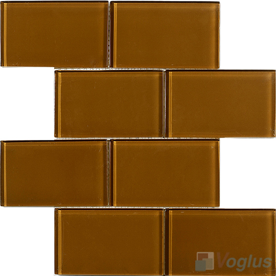 Sepia Subway 3x6 inch Brick Glass Tiles VG-CYZ99
