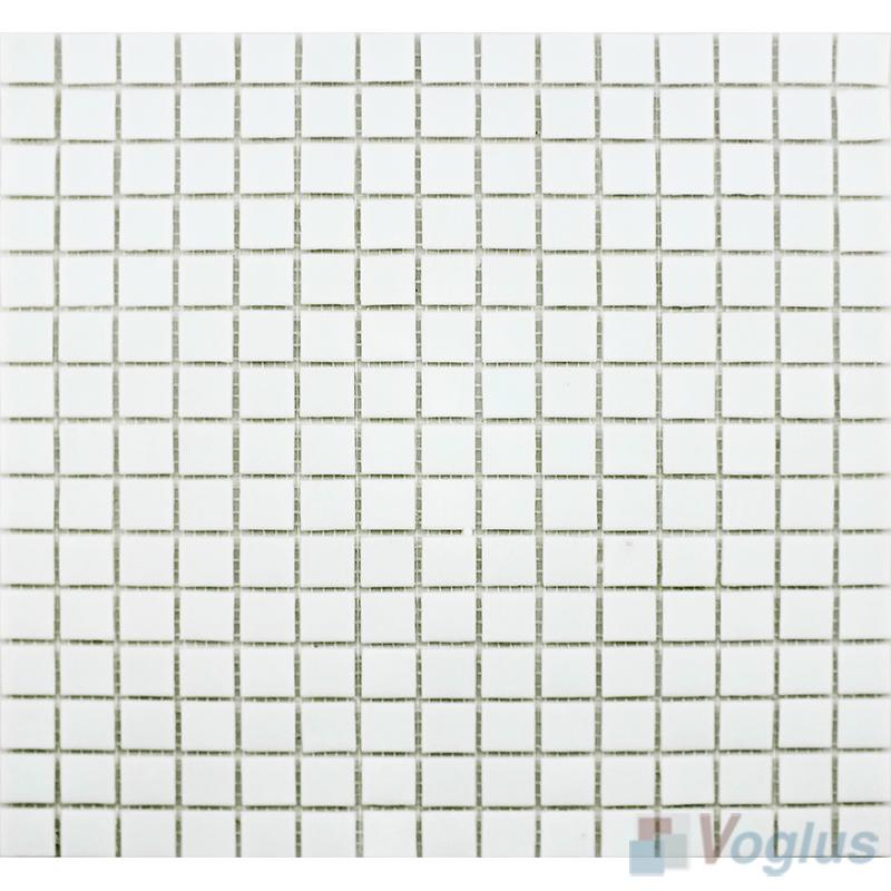 White 20x20mm Dot Glass Mosaic VG-DTS85