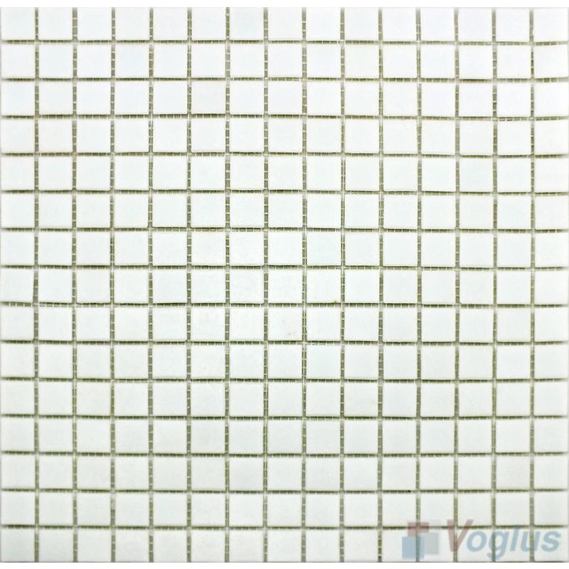 White 20x20mm Dot Glass Mosaic VG-DTS99