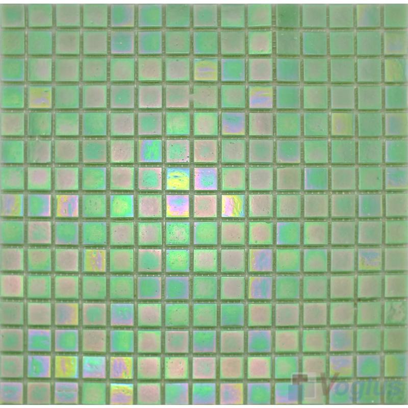 20x20mm Rainbow Iridium Glass Mosaic Tiles VG-RDR88