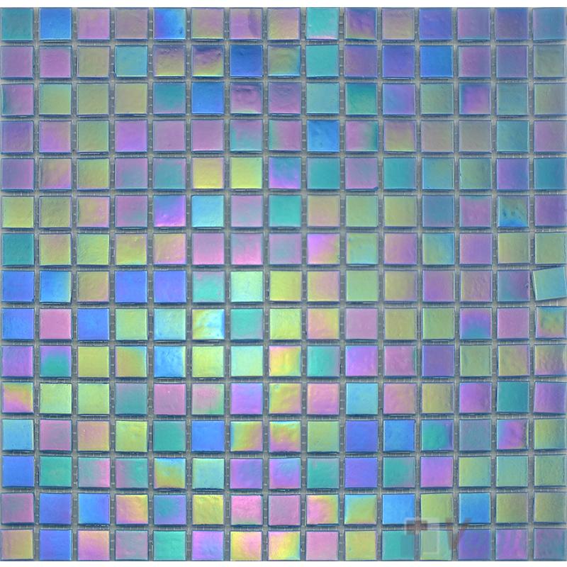 20x20mm Rainbow Iridium Glass Mosaic Tiles VG-RDR91