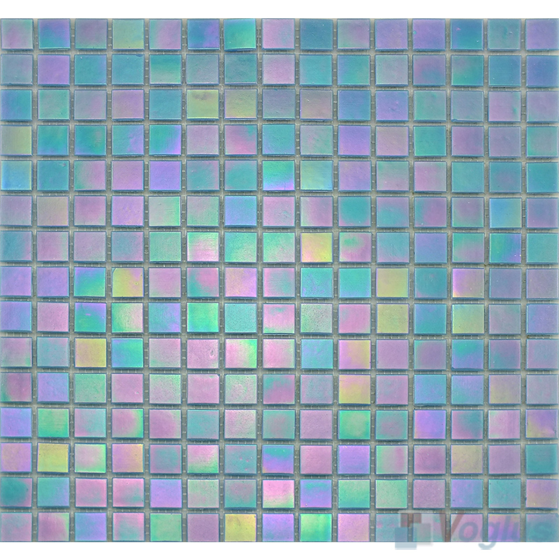 20x20mm Rainbow Iridium Glass Mosaic Tiles VG-RDR92