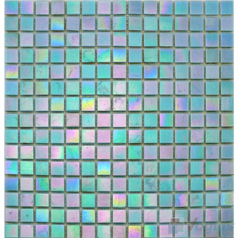20x20mm Rainbow Iridium Glass Mosaic Tiles VG-RDR93