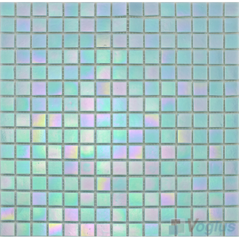 20x20mm Rainbow Iridium Glass Mosaic Tiles VG-RDR94