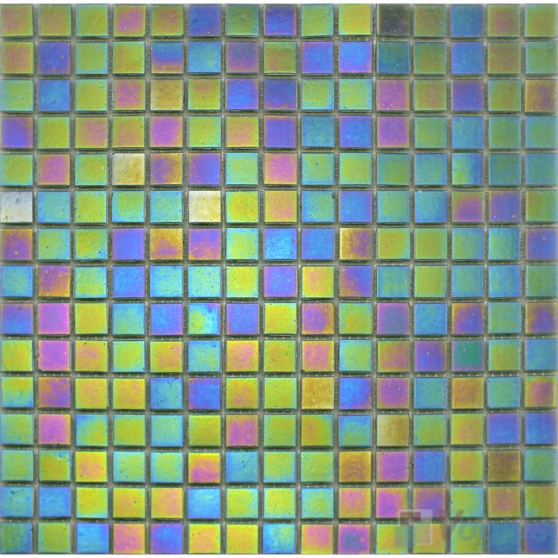 20x20mm Rainbow Iridium Glass Mosaic Tiles VG-RDR95