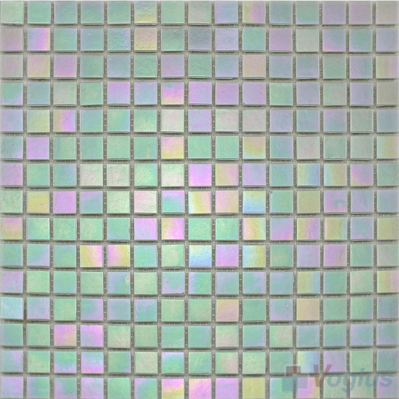 20x20mm Rainbow Iridium Glass Mosaic Tiles VG-RDR97