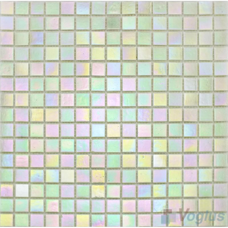 20x20mm Rainbow Iridium Glass Mosaic Tiles VG-RDR98