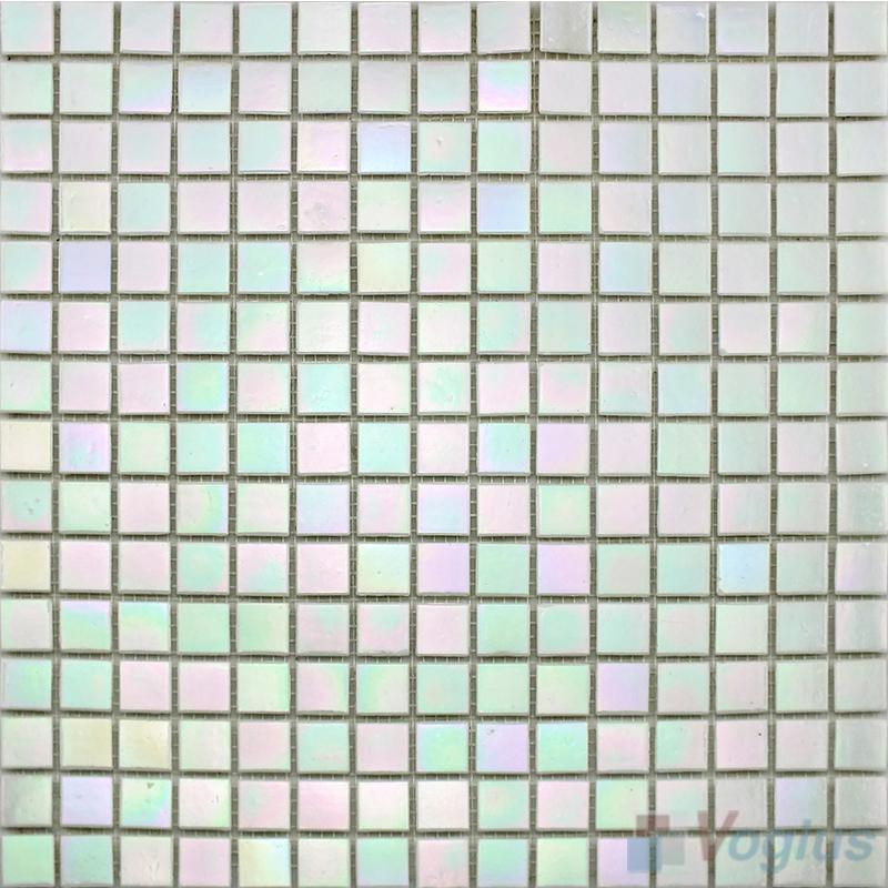 20x20mm Rainbow Iridium Glass Mosaic Tiles VG-RDR99