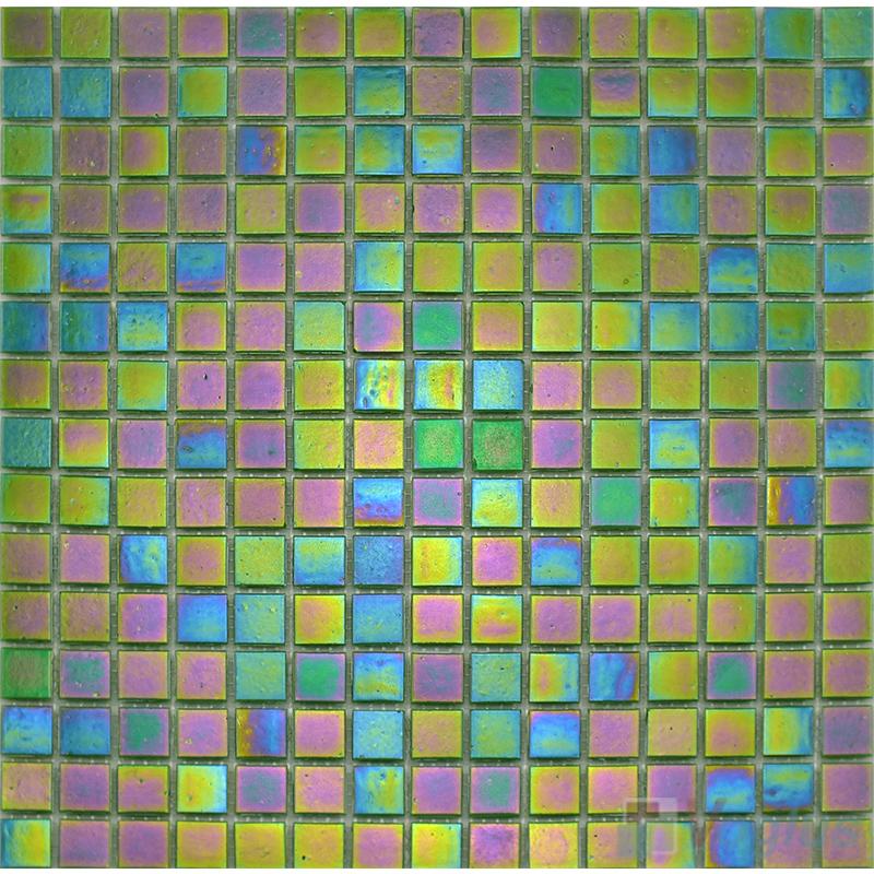 20x20mm Rainbow Iridium Glass Mosaic VG-RDR85