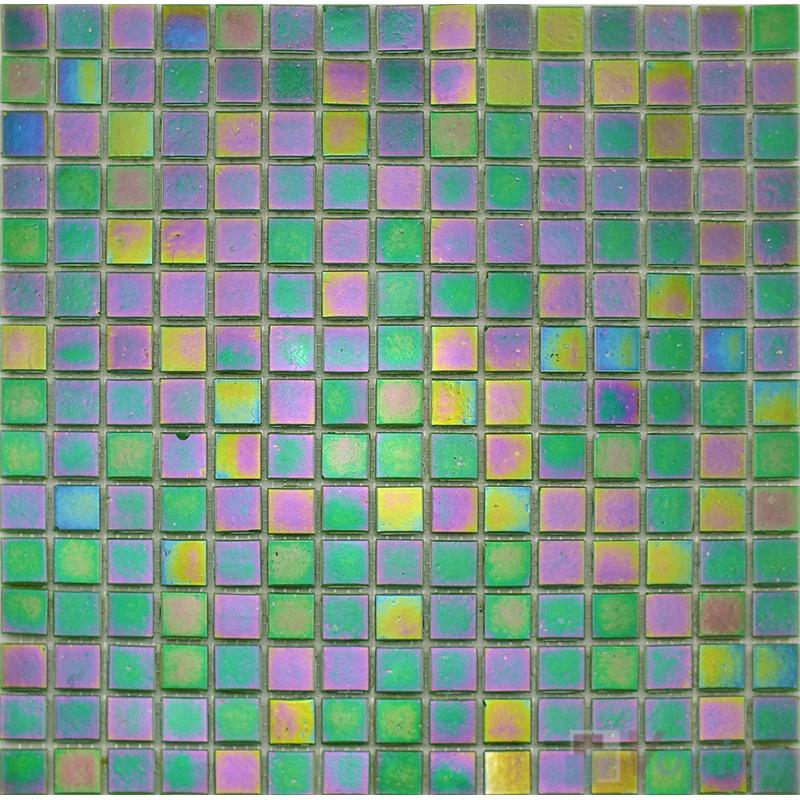 20x20mm Rainbow Iridium Glass Mosaic VG-RDR86