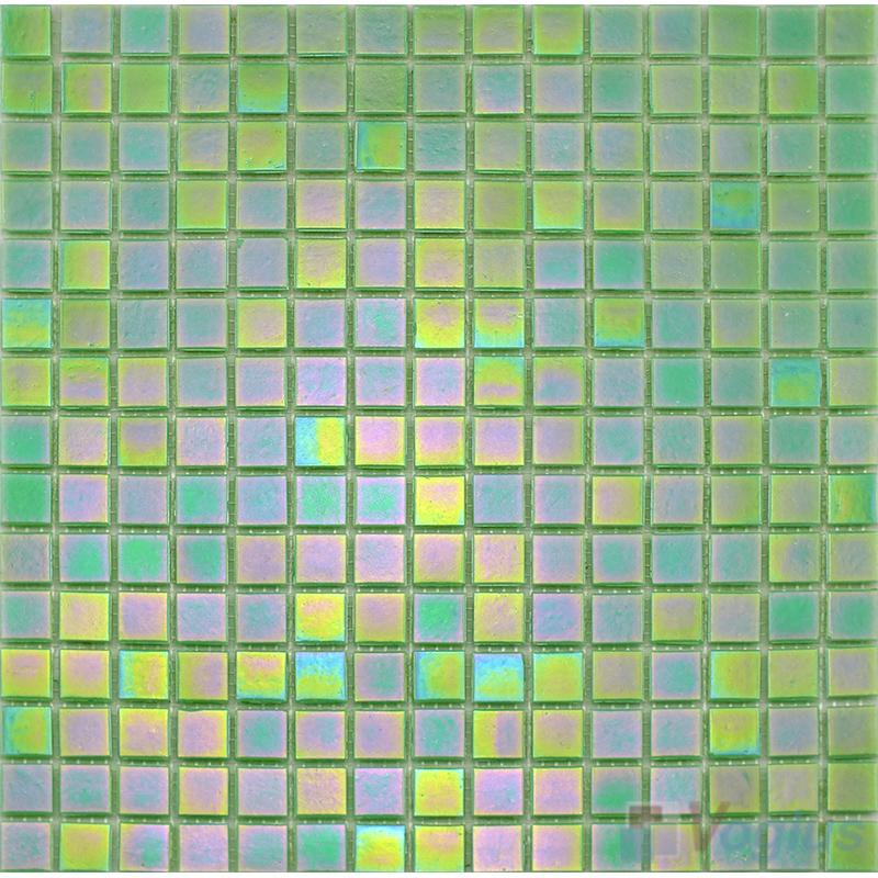 20x20mm Rainbow Iridium Glass Mosaic VG-RDR87