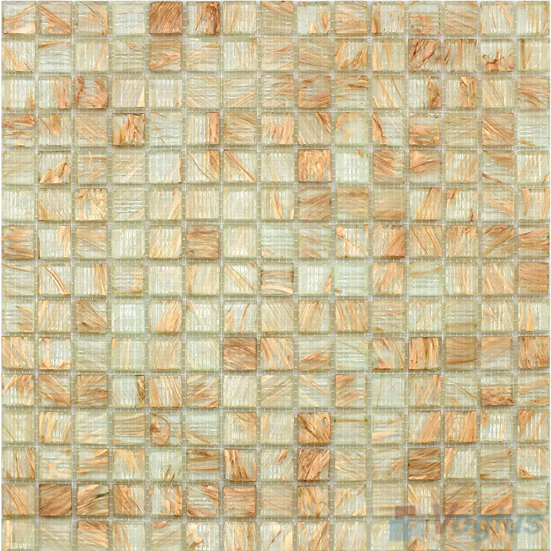 Beige 20x20mm Gold Line Glass Mosaic VG-GLS99
