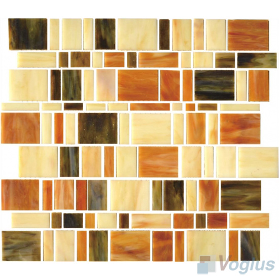 Beige Skyline Tiffany Glass Mosaic VG-TF84